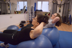 Jenny and client in Hove Fitness Studio