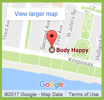 Body happy location on Google maps