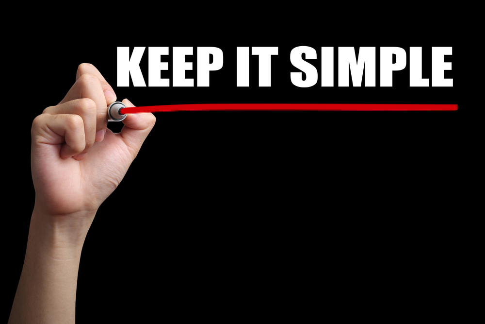 Keep it Simple - stick to your goals Lewes
